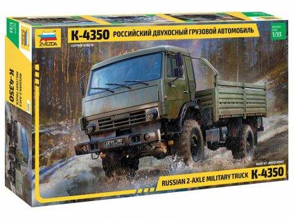 Model Kit military ZVEZDA 3692 - Russian 2 Axle Military Truck K-4326 (1:35)