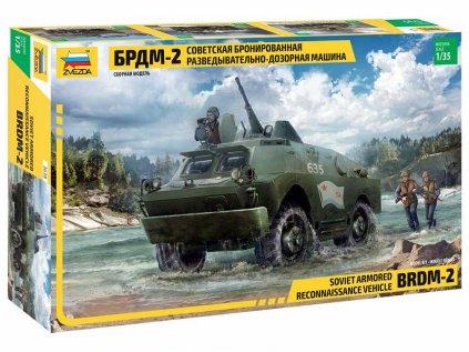 Model Kit military ZVEZDA 3638 - BRDM-2 Russian Armored Car (1:35)