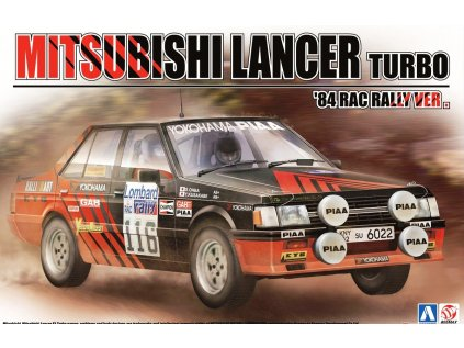 Model Kit auto BEEMAX B24022 - Mitsubishi Lancer Turbo '84 RAC Rally Ver. (1:24)