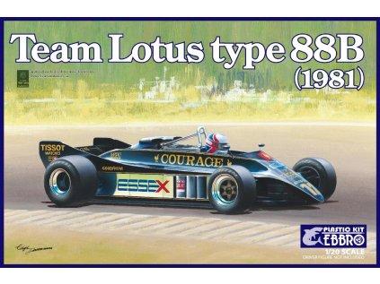 Model Kit formula EBBRO EBR20010 - Team Lotus Type 88B 1981 (1:20)
