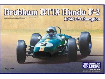 Model Kit formula EBBRO EBR20022 - Brabham BT18 Honda F-2 1966 F2 Champion (1:20)