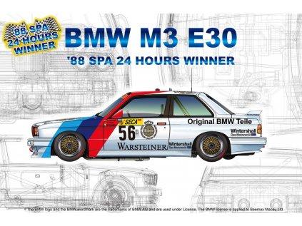 Model Kit auto NUNU PN24017 - Racing Series BMW M3 E30 Group A 1988 Spa 24 Hours Winner (1:24)