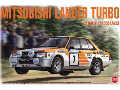 Model Kit auto NUNU PN24018 - MITSUBISHI LANCER TURBO '82 RALLY OF 1000 LAKES (1:24)