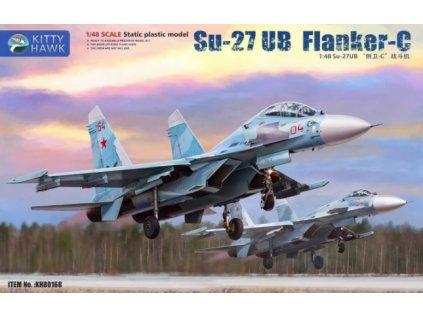 Plastový model lietadlo KITTY HAWK KH80168 - Su-27UB Flanker-C (1:48)