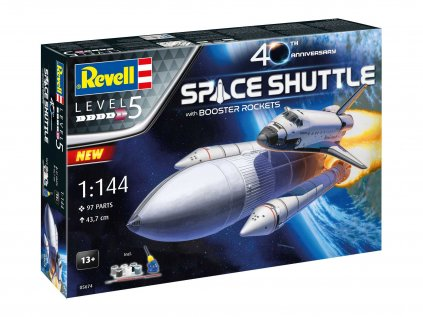 Darčekový set vesmír REVELL 05674 - Space Shuttle & Booster Rockets - 40th Anniversary (1:144)