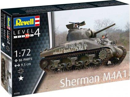 Plastový model tank REVELL 03290 - Sherman M4A1 (1:72)