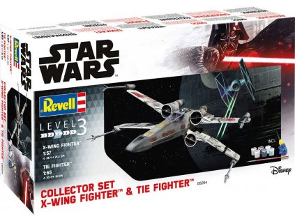 Darčekový set SW REVELL 06054 - X-Wing Fighter (1:57) + TIE Fighter (1:65)