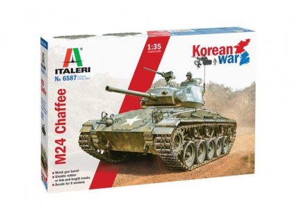 "Model Kit tank ITALERI 6587 - M24 ""Chaffee"" Korean War (1:35)"
