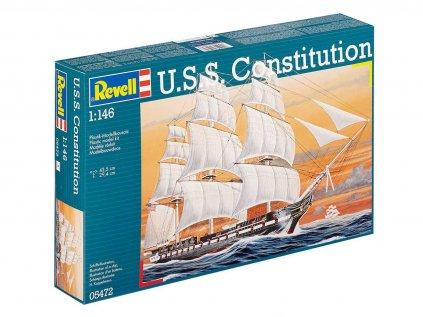 Plastový model loď REVELL 05472 - U.S.S. Constitution (1:146)