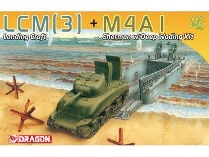 Model Kit tank DRAGON 7516 - LCM(3) + M4A1 Sherman w/Deep Wading Kit (1:72)