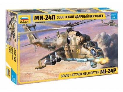 Model Kit vrtulník ZVEZDA 4812 - MIL Mi-24P Russ.Attack Helicopter (1:48)