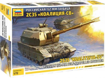 "Model Kit tank ZVEZDA 5055 - 2S35 ""Koalitsya-SV"" Self Propelled Howitzer (1:72)"
