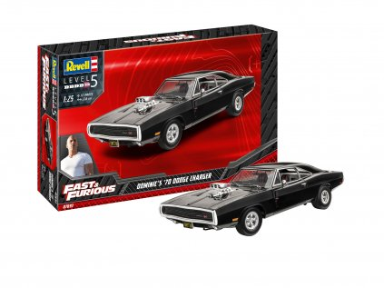 Plastový model auto REVELL 07693 - Fast & Furious - Dominics 1970 Dodge Charger (1:25)