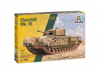 Model Kit tank ITALERI 7083 - Churchill Mk. III (1:72)