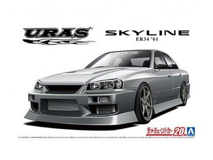 Model Kit auto AOSHIMA AO06134 - URAS ER34 Nissan Skyline 25GT-t 2001 (1:24)