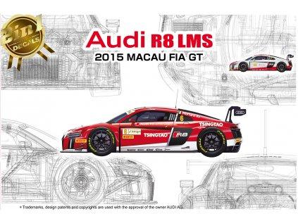 Model Kit auto NUNU PN24024 - Audi R8 LMS GT3 2015 Macau FIA GT (1:24)