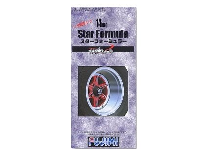 Disky FUJIMI FU19309 - 14-inch Star Formula Wheel/Tire set (1:24)