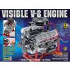5036 plast model motor revell monogram 8883 visible v 8 engine 1 4
