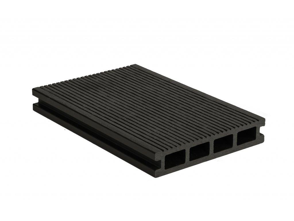 Terasové prkno G21 2,5 x 14 x 300 cm, Eben mat. WPC