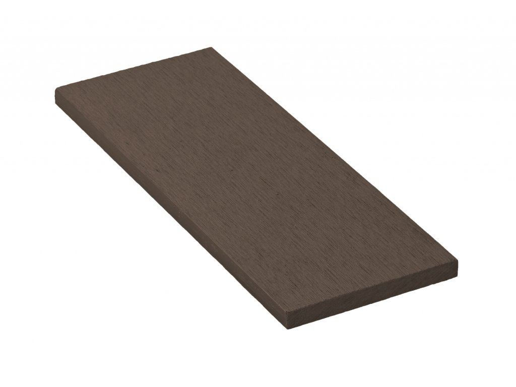Zakončovácí lišta G21 Indický teak plochá 0,9 x 9 x 200 cm, mat. WPC