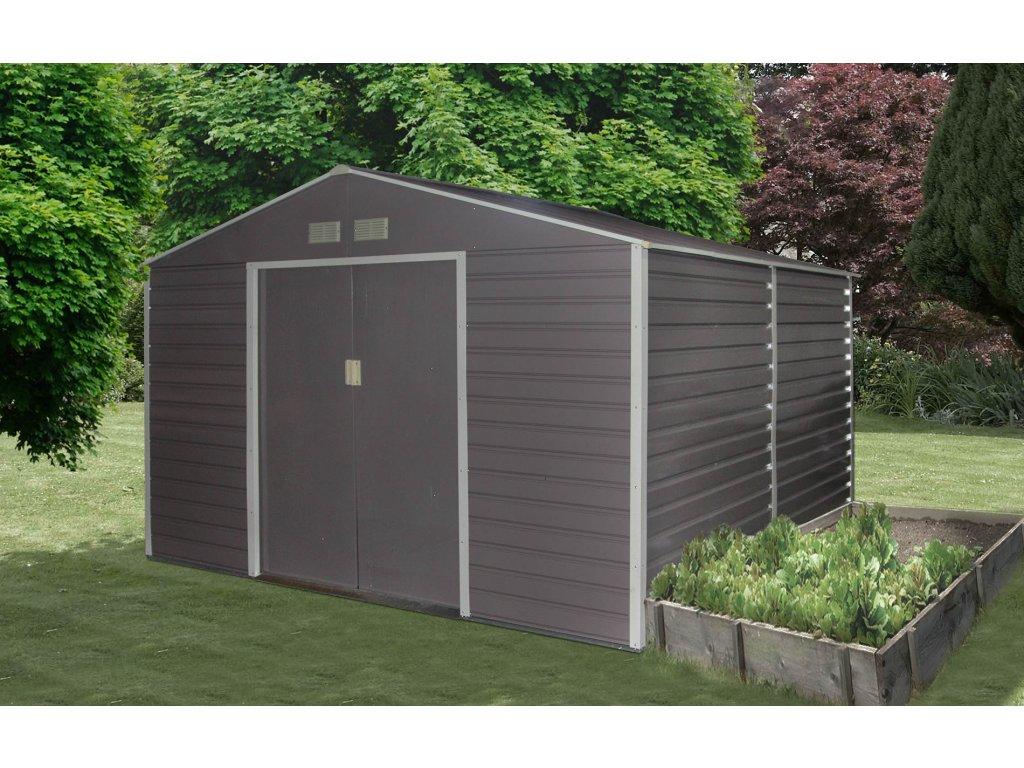 Zahradní domek G21 GAH 529 - 277 x 191 cm, šedý  + kotvící sada do betonu v hodnotě 999,00 Kč ZDARMA!