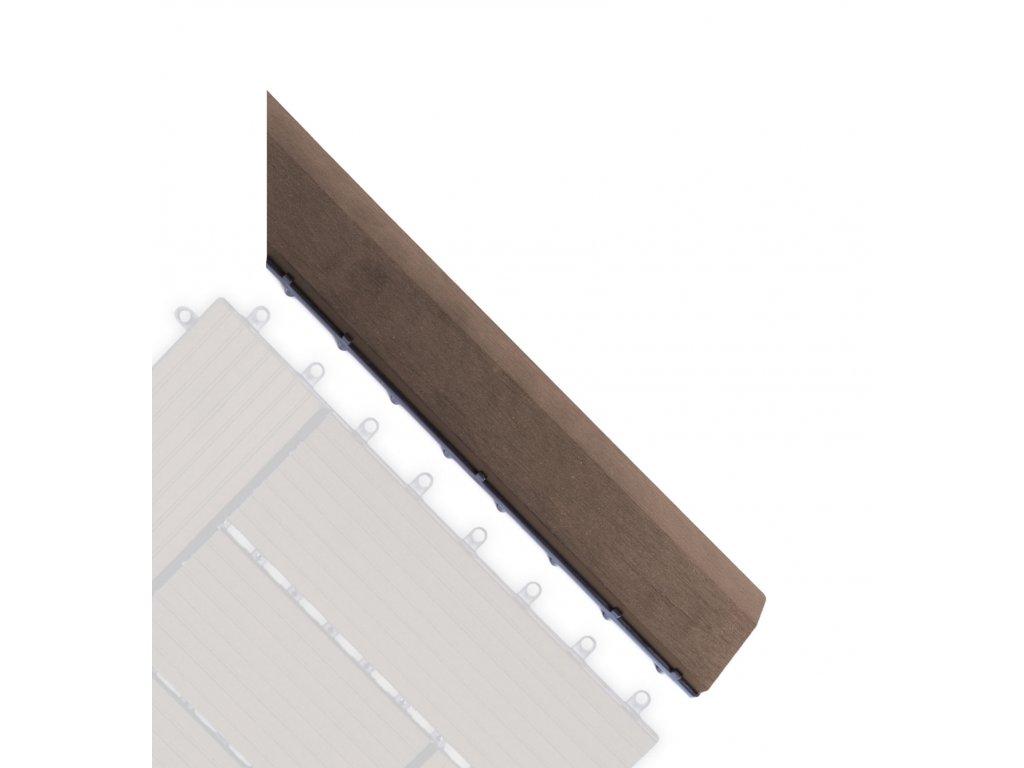 Přechodová lišta G21 Indický teak pro WPC dlaždice, 38,5 x 7,5 cm rohová (pravá)
