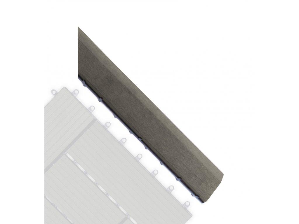 Přechodová lišta G21 Incana pro WPC dlaždice, 38,5 x 7,5 cm rohová (pravá)