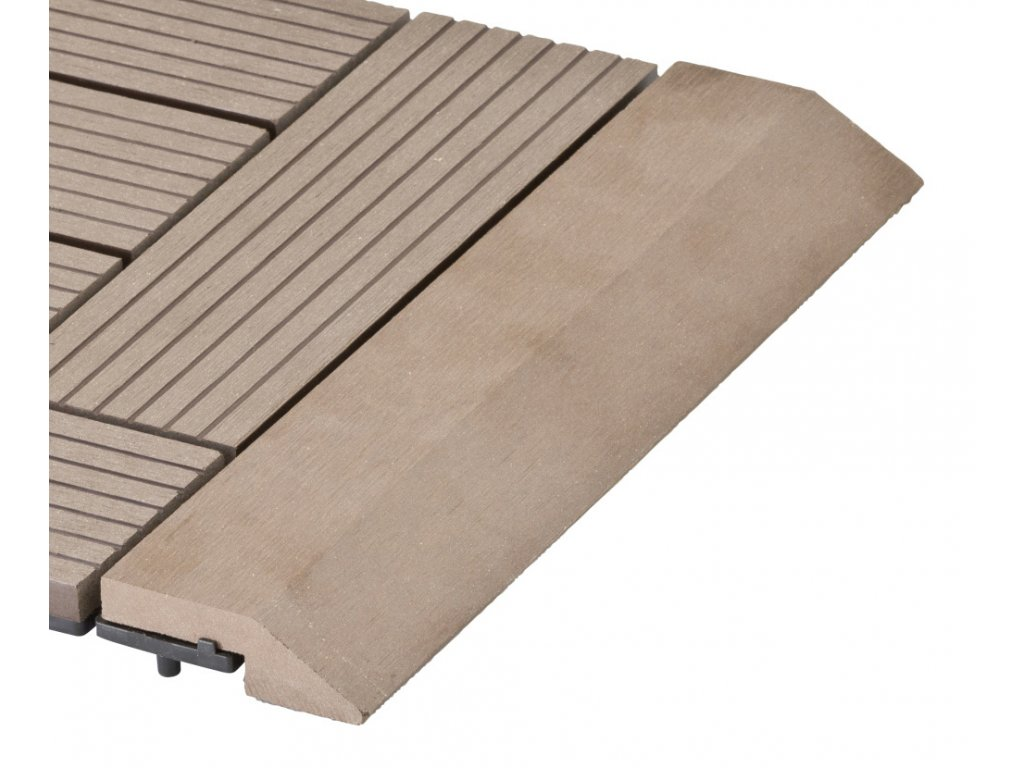 Přechodová lišta G21 Indický teak pro WPC dlaždice, 30 x 7,5 cm rovná
