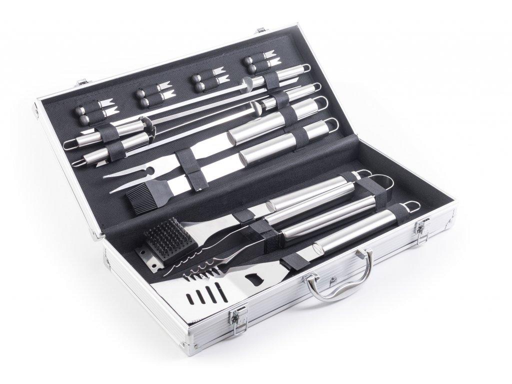 Grilovací nářadí G21 sada 17 ks, hliníkový kufr