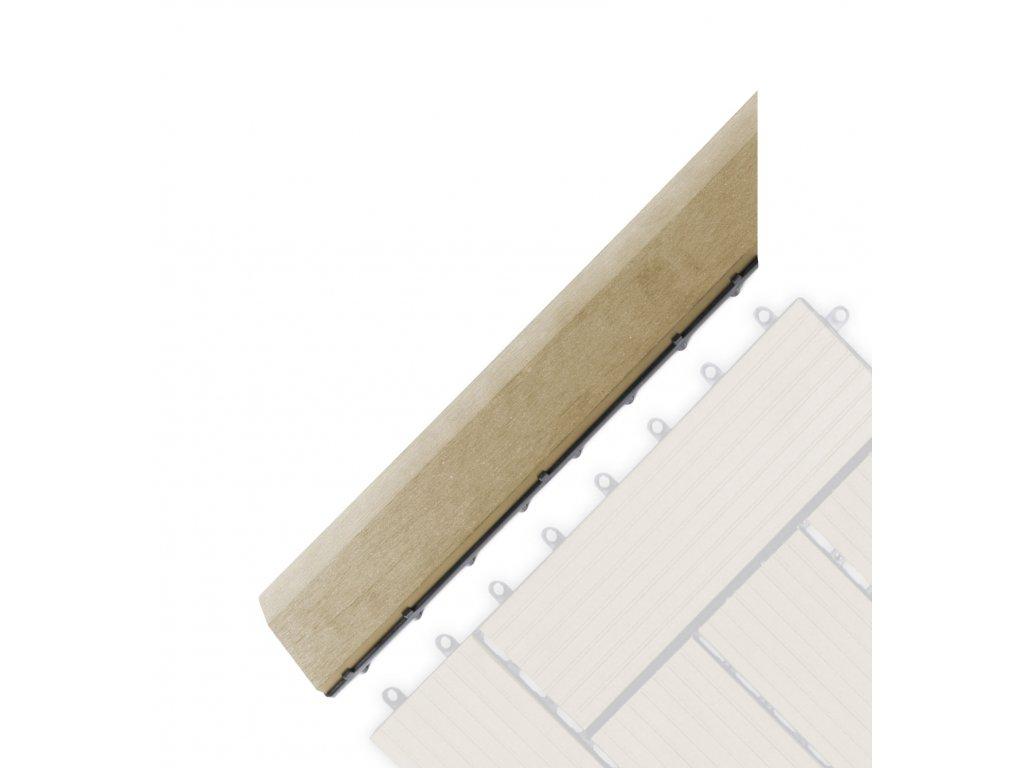 Přechodová lišta G21 Cumaru pro WPC dlaždice, 38,5 x 7,5 cm rohová (levá)