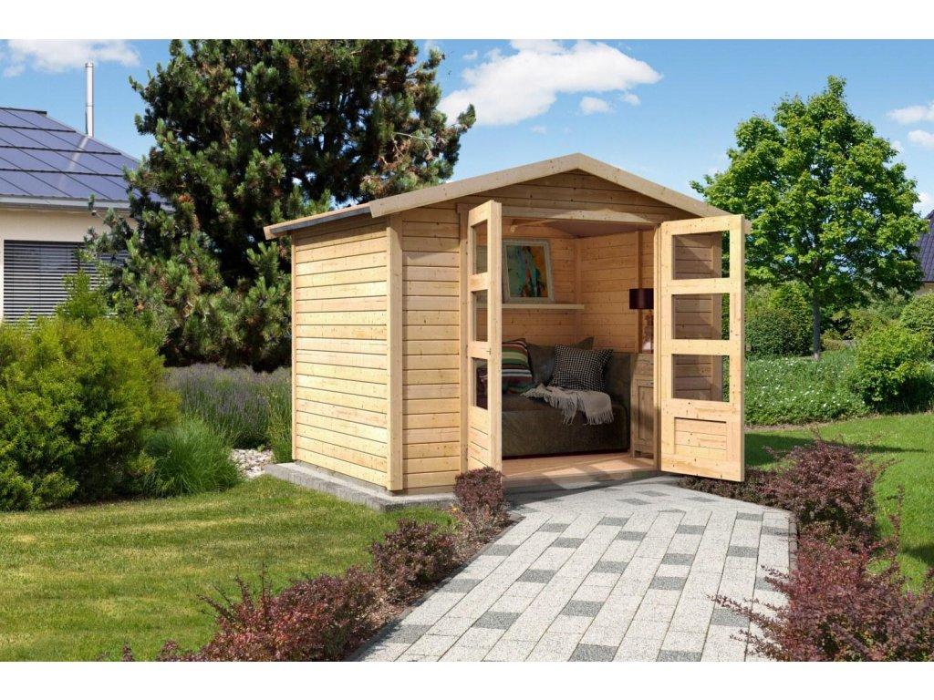 Dřevěný domek KARIBU AMBERG 4 (14520) SET