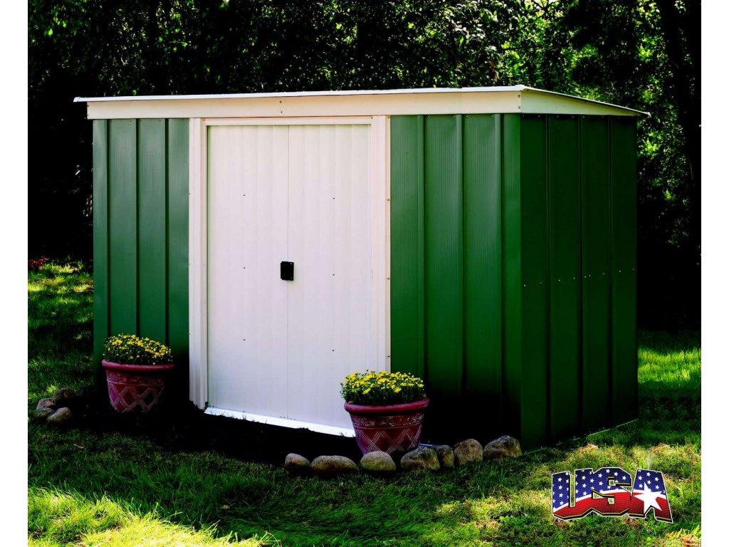 Zahradní domek PT 104, 314 x 119 cm, (3,02 m2) zelený