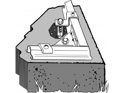 Kotvící sada pro domky ARROW do betonu
