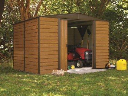 Zahradní domek WOODRIDGE 1012 313x370 cm (11,58 m2)  + kotvící sada do betonu, ZDARMA jako DÁREK!