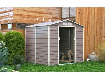 Zahradní domek G21 GAH 407 - 213 x 191 cm, šedý  + kotvící sada do betonu v hodnotě 999,00 Kč ZDARMA!
