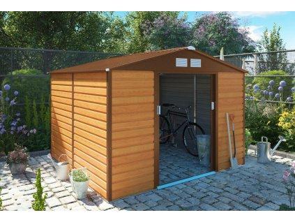 Zahradní domek G21 GAH 706 - 277 x 255 cm, hnědý  + kotvící sada do betonu v hodnotě 999,00 Kč ZDARMA!