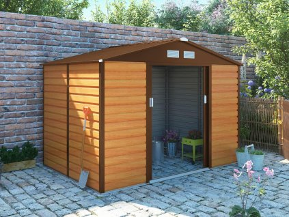 Zahradní domek G21 GAH 529 - 277 x 191 cm, hnědý  + kotvící sada do betonu v hodnotě 999,00 Kč ZDARMA!