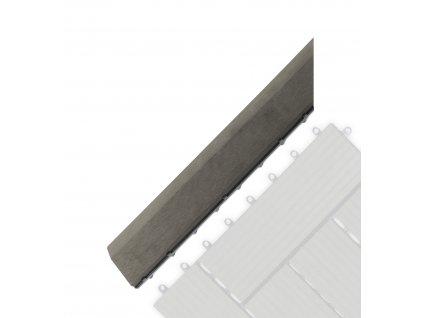 Přechodová lišta G21 Incana pro WPC dlaždice, 38,5 x 7,5 cm rohová (levá)