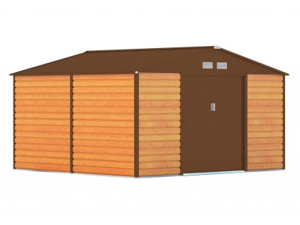 Zahradní domek G21 GAH 1085 - 340 x 319 cm, hnědý  + kotvící sada do betonu v hodnotě 999,00 Kč ZDARMA!