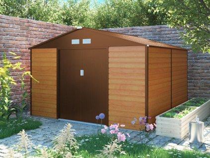 Zahradní domek G21 GAH 1085 - 340 x 319 cm, hnědý  + kotvící sada do betonu ZDARMA!