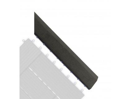 Přechodová lišta G21 Eben pro WPC dlaždice, 38,5 x 7,5 cm rohová (pravá)