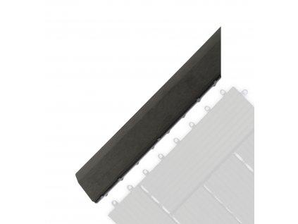 Přechodová lišta G21 Eben pro WPC dlaždice, 38,5 x 7,5 cm rohová (levá)