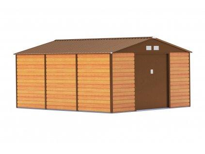 Zahradní domek G21 GAH 1300 - 340 x 382 cm, hnědý  + kotvící sada do betonu v hodnotě 999,00 Kč ZDARMA!