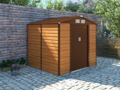Zahradní domek G21 GAH 407 - 213 x 191 cm, hnědý  + kotvící sada do betonu v hodnotě 999,00 Kč ZDARMA!