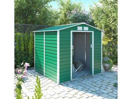 Zahradní domek G21 GAH 407 - 213 x 191 cm, zelený  + kotvící sada do betonu ZDARMA!