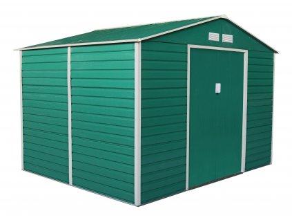Zahradní domek G21 GAH 529 - 277 x 191 cm, zelený  + kotvící sada do betonu v hodnotě 999,00 Kč ZDARMA!