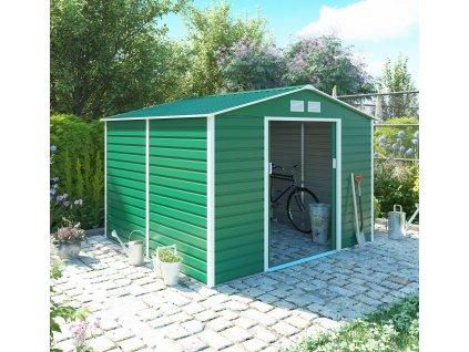 Zahradní domek G21 GAH 706 - 277 x 255 cm, zelený  + kotvící sada do betonu v hodnotě 999,00 Kč ZDARMA!