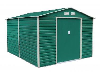 Zahradní domek G21 GAH 1085 - 340 x 319 cm, zelený  + kotvící sada do betonu v hodnotě 999,00 Kč ZDARMA!