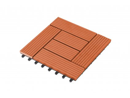 WPC dlaždice G21 Palmyra třešeň 2,3 x 30 x 30 cm