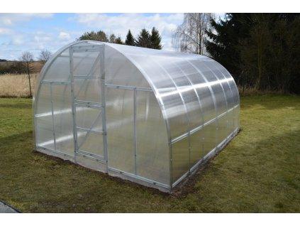 skleník LANITPLAST KYKLOP 3x4 m PC 4 mm  + Čisticí prostředek na desky z polykarbonátu + Teploměr / vlhkoměr do skleníku 2v1, ZDARMA!